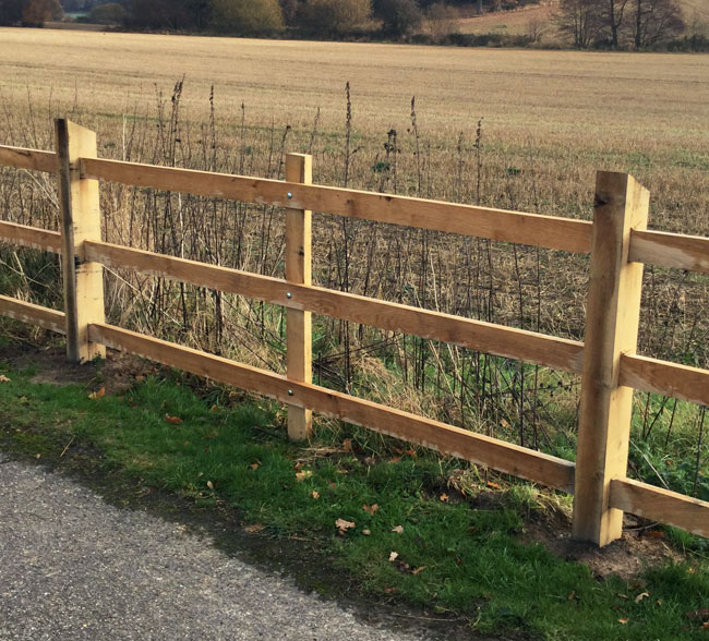 scarfed-post-and-rail-fencing-kent