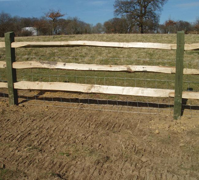 softwood-post-chestnut-rail-fencing-kent